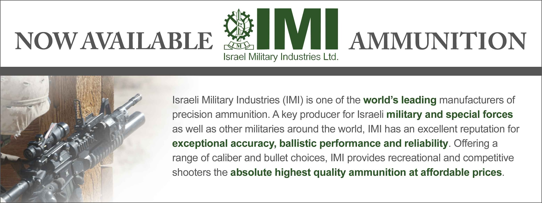 IMI Ammunition Now Available