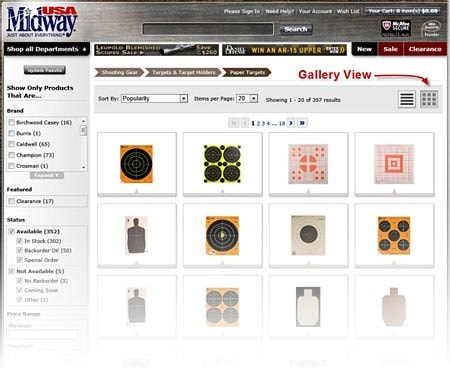 Features New Product Gallery View