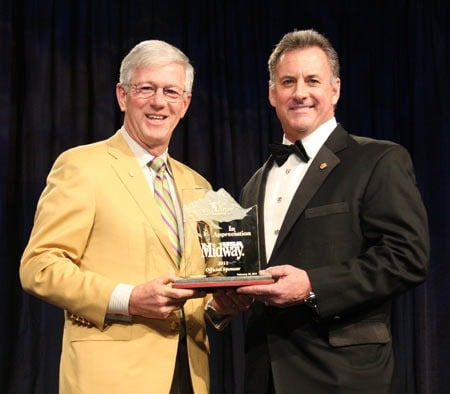 Larry Potterfield (Left), Founder and CEO of MidwayUSA and Gray Thornton, President and CEO of WSF