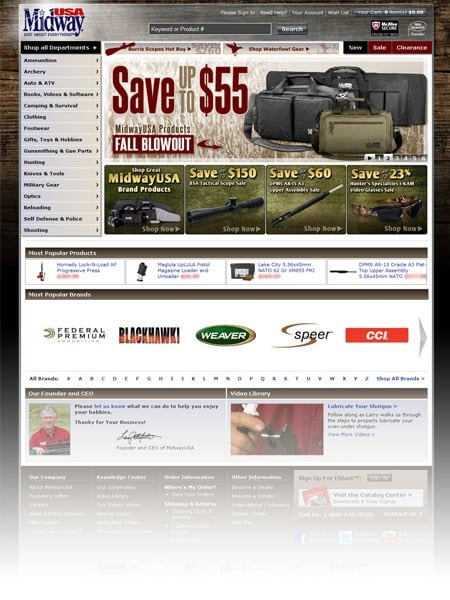 MidwayUSA launches new Homepage