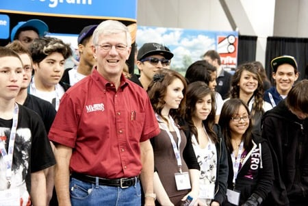 Larry Potterfield with Las Vegas Youth at the 2012 Elk Camp