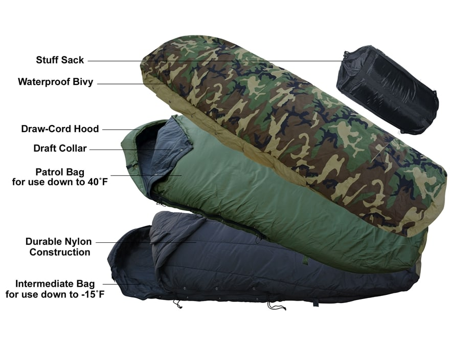 Midwayusa Introduces Military Style 4 Piece Ecws Modular Sleeping Bag System