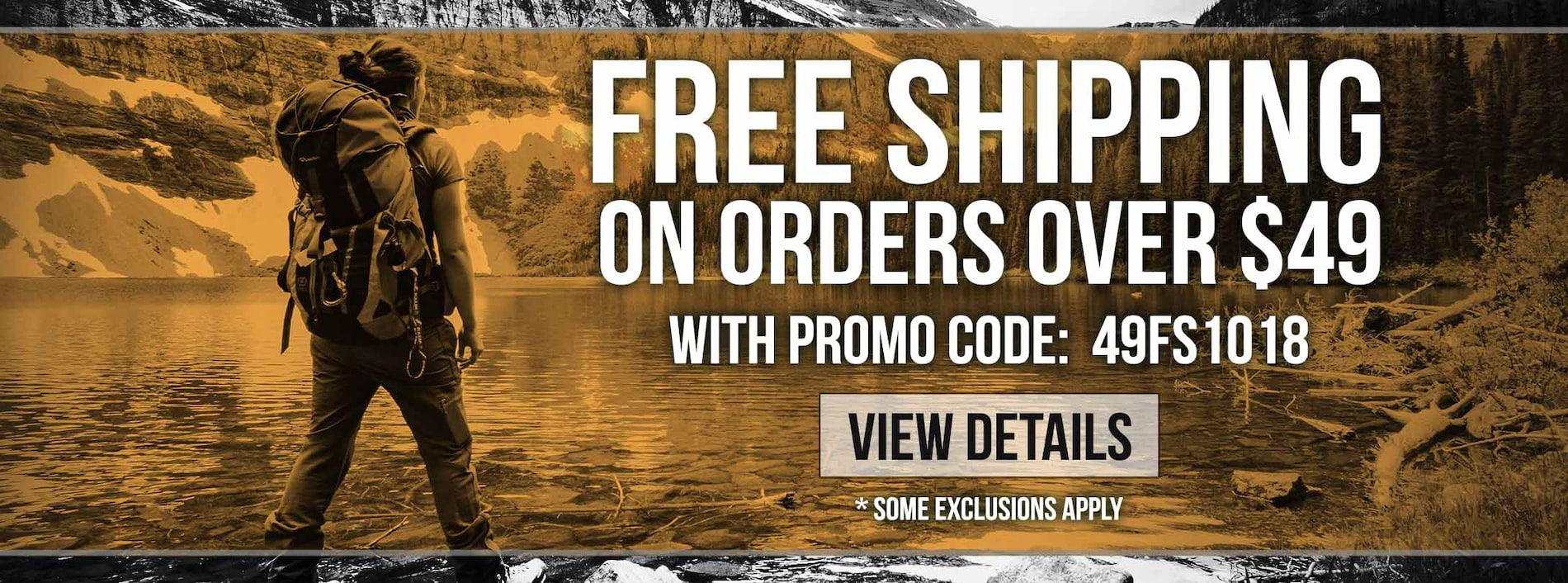 Orders Over $49 Ship Free - Some Exclusions Apply