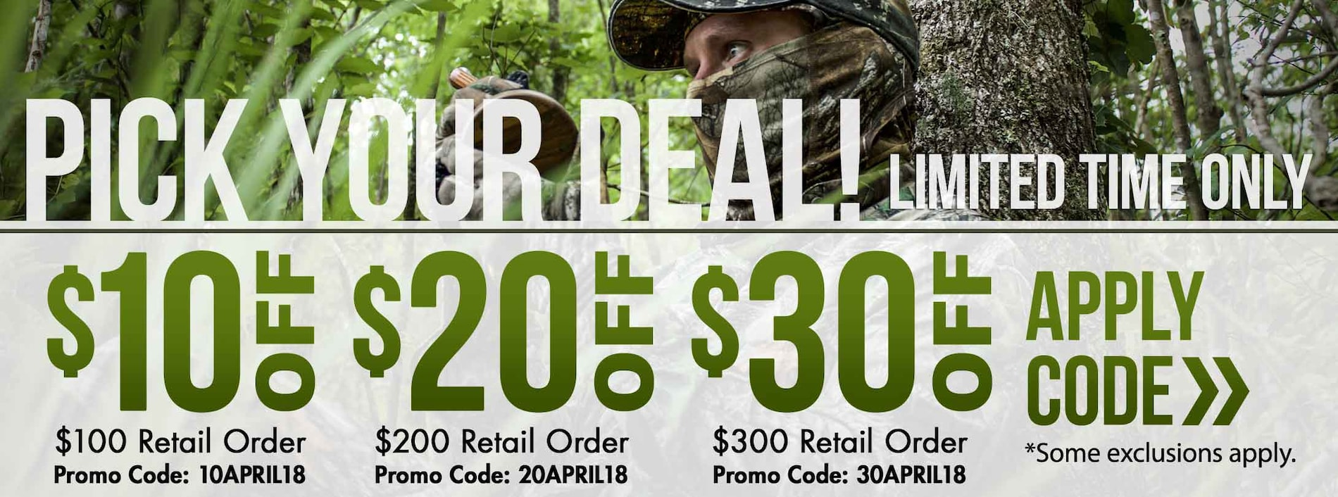Up to $30 Off Your Order with Promo Code