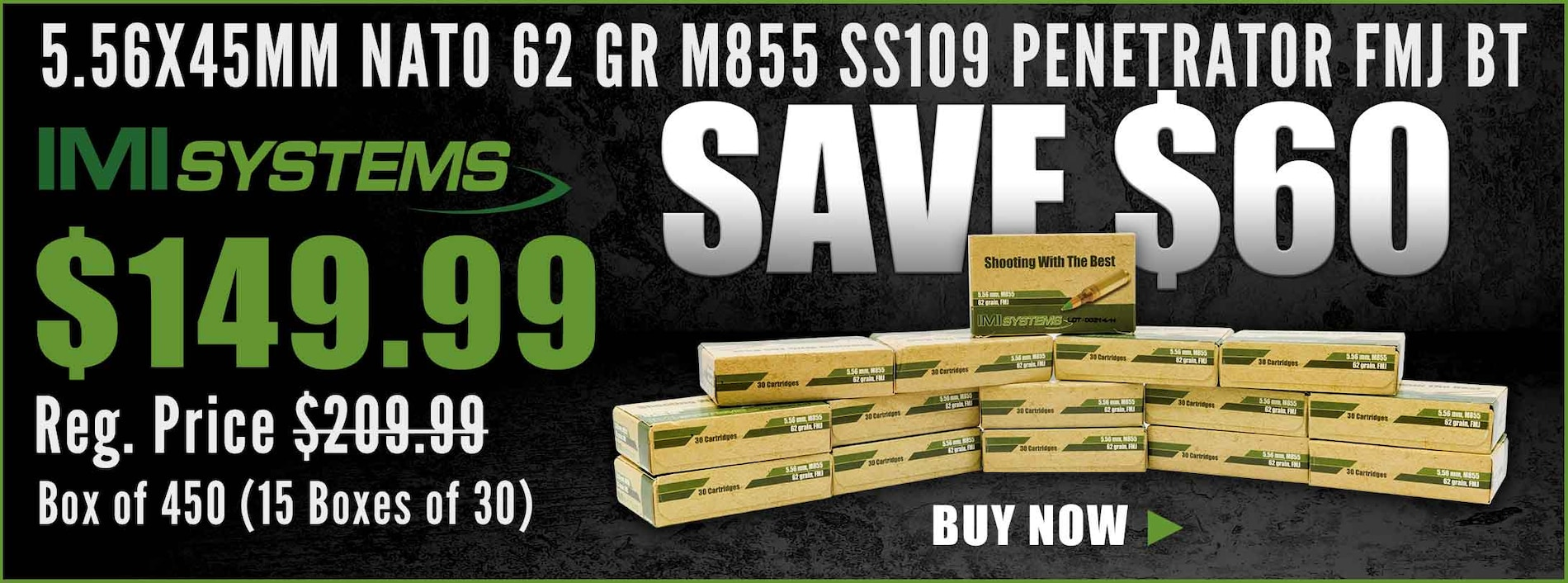Save on IMI 62 Gr M855