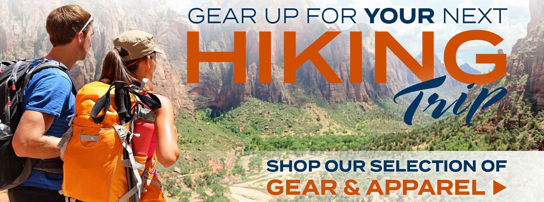 Hiking Clothing, Footwear & Gear