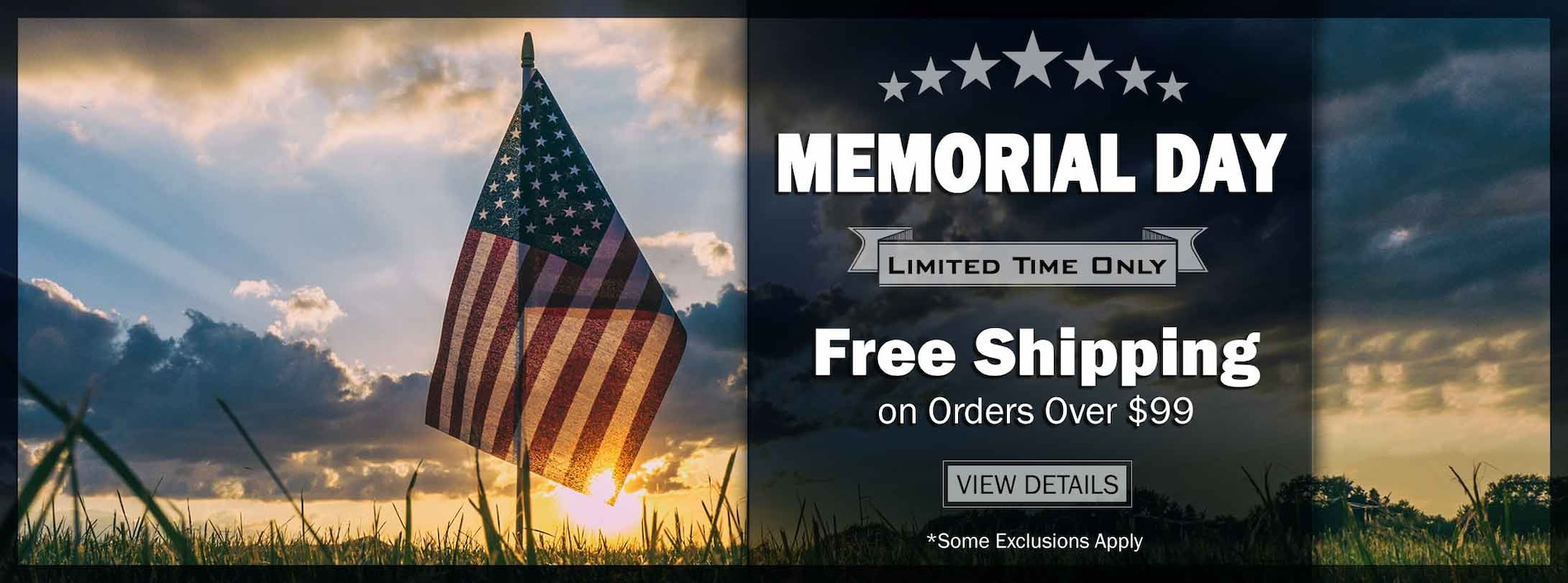 Orders Over $99 Ship Free! Some Exclusions Apply