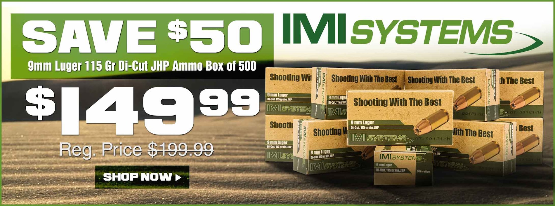 Save on IMI 9mm Ammo!