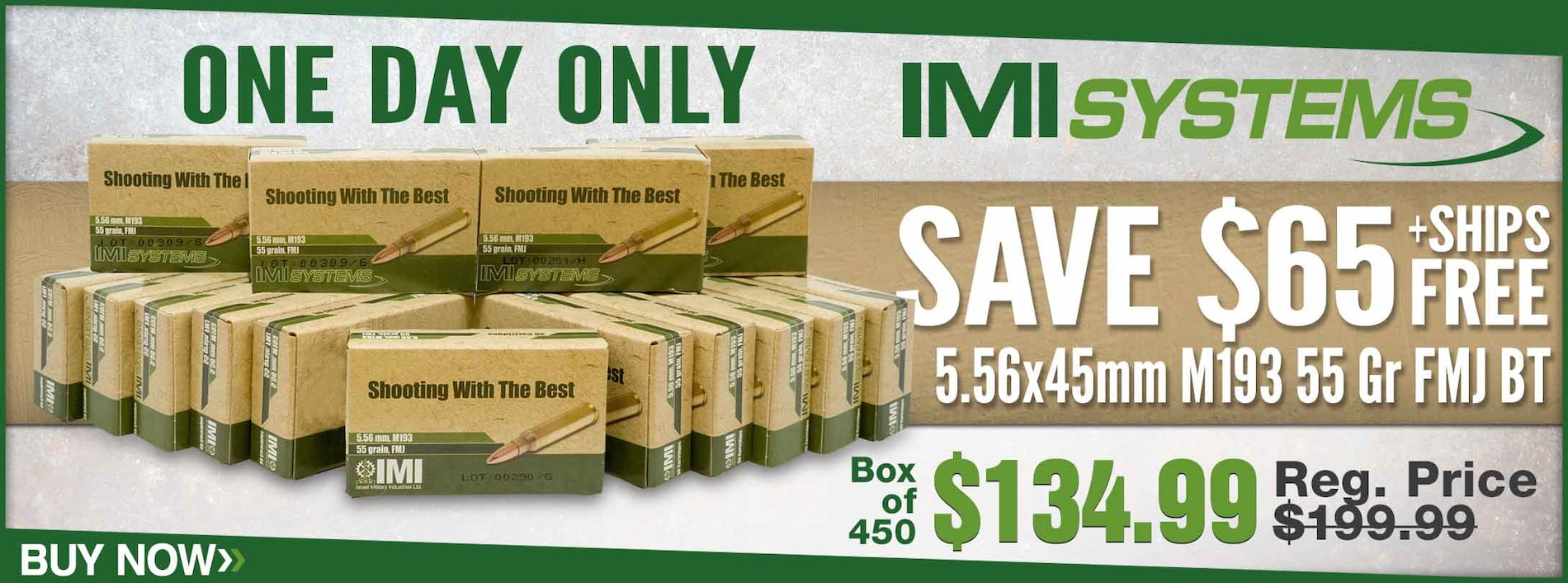 Save on IMI M193 Ammo