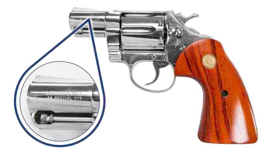 Revolver Model on Barrel