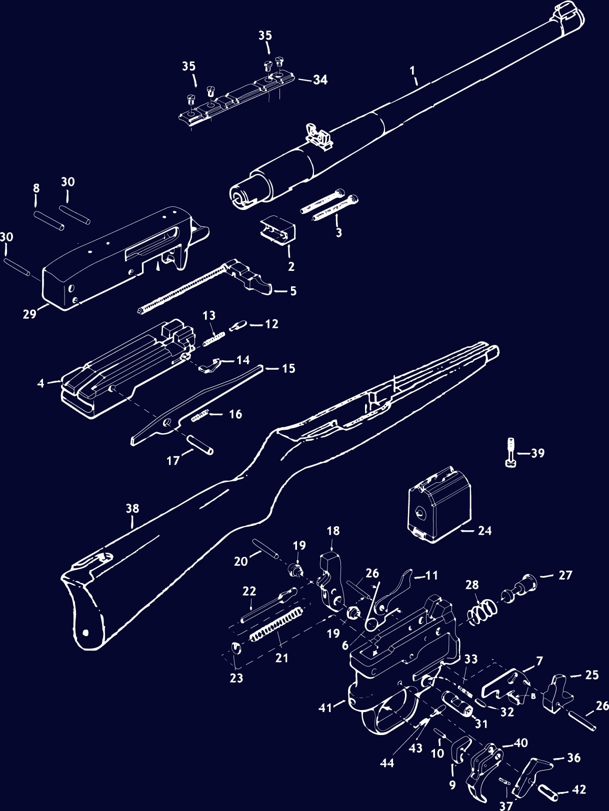 1022 Rifle Diagrams 1022 Rifle Schematics 1022 Rifle Exploded