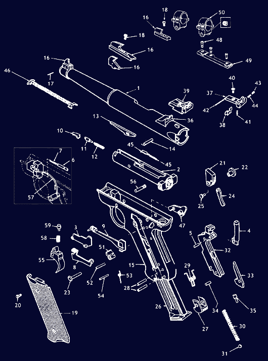 Ruger Mark 2 Schematic - Gun Diagrams, Gun Parts | MidwayUSA