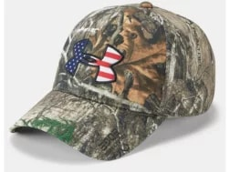 7e5faacd4a93b Under Armour Men's UA Camo BFL Cap Poly Realtree Edge/Maverick Brown/Scribe  Blue