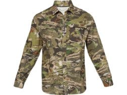 6619f39e2f7d3 Under Armour Men's UA ArmourVent Camo No Fly Zone Button-Up Long Sleeve  Shirt Polyester