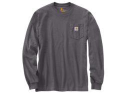 fa8d8e2116 Carhartt Men's Workwear Pocket Long Sleeve T-Shirt Cotton/Polyester Carbon  Heather Medium Regular