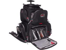 G P S Rolling Handgunner Backpack Range Bag Nylon Black
