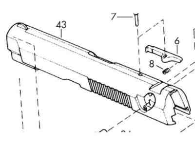 Browning Slide Browning BDA 380 Type 1