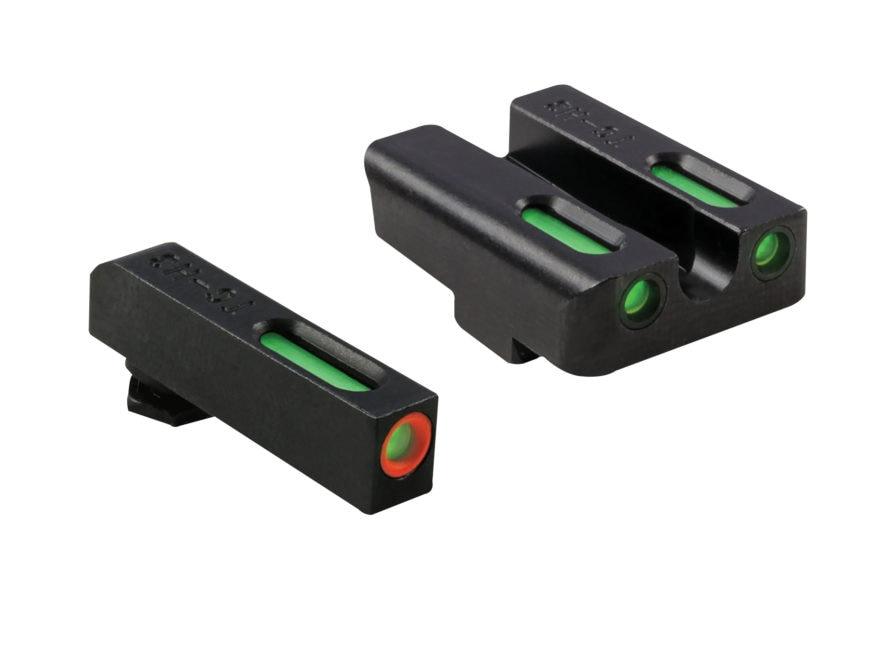 TRUGLO TFX Pro Sight Set Glock 20, 21, 25, 29, 30, 31, 32, 37, 40, 41  Tritium / Fiber ...