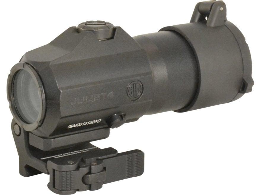 Sig Sauer JULIET4 4x 24mm Magnifier Powercam Quick-Release Mount with Spacers Black