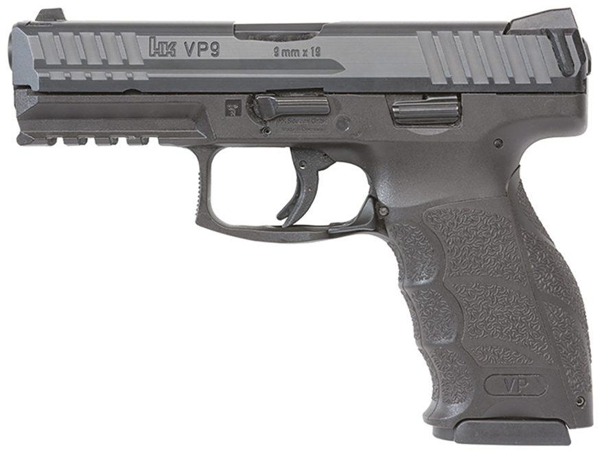 """HK VP9 Pistol 9mm Luger 4.09"""" Barrel Polymer"""