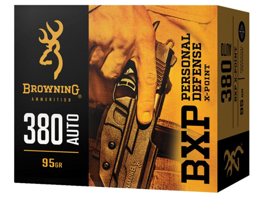 Browning BXP Personal Defense Ammunition 380 ACP 95 Grain X-Point Box of 20