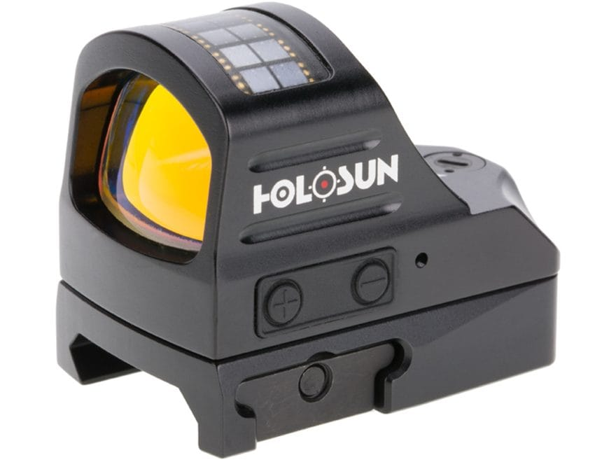 Holosun HS507C Reflex Sight 1x Selectable Reticle Weaver-Style Mount Solar/Battery Powe...