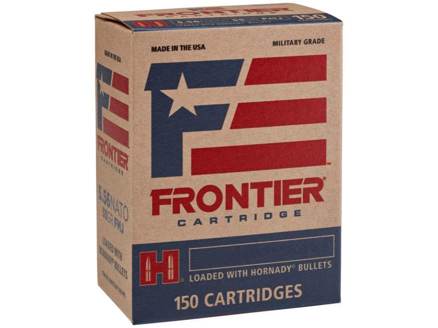 Frontier Cartridge Military Grade Ammunition 5.56x45mm NATO XM193 55 Grain Hornady Full...
