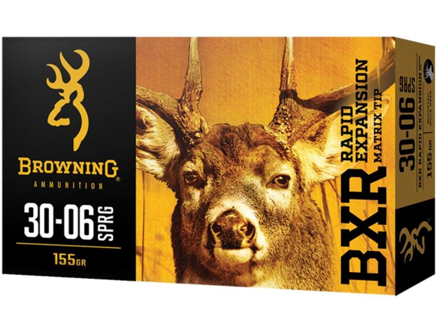 Browning BXR Rapid Expansion Ammunition 30-06 Springfield 155 Grain Matrix Tip Box of 20