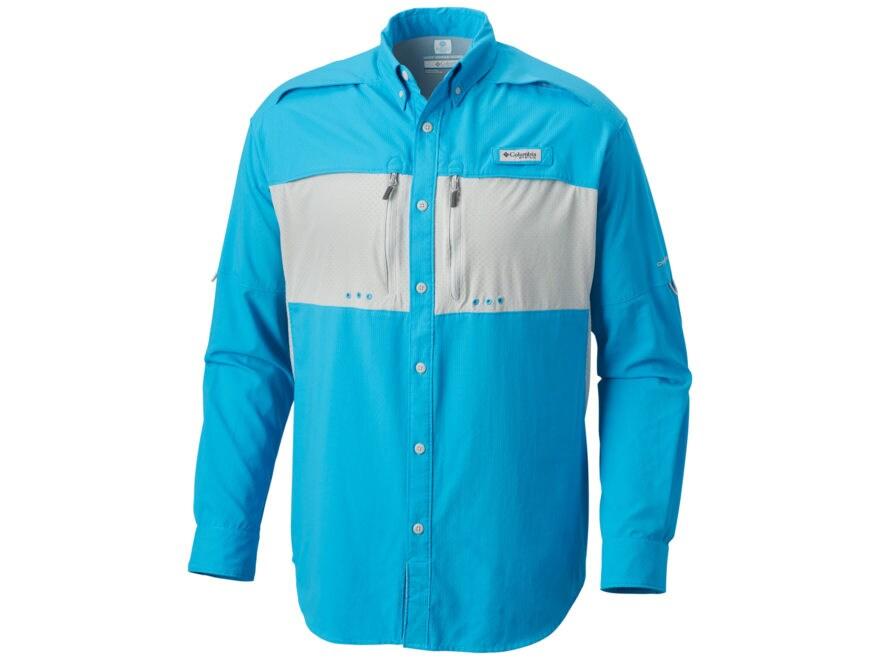 Columbia Men's Cast Away Zero II Button-Up Shirt Long Sleeve Polyester