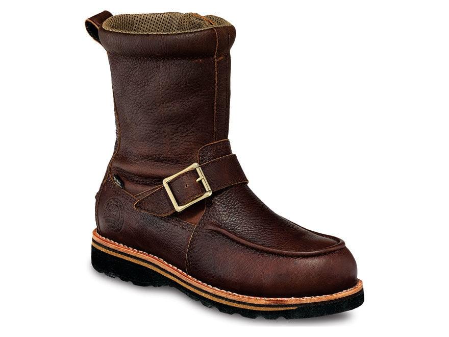"Irish Setter Wingshooter 9"" Waterproof Side-Zip Hunting Boots Leather Brown Men's"