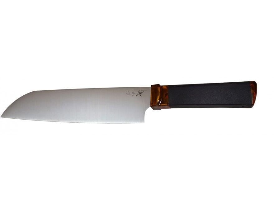 """Ontario Agilite Santoku Fixed Blade Knife 7"""" 14C28N Stainless Steel Blade Polycarbonate..."""