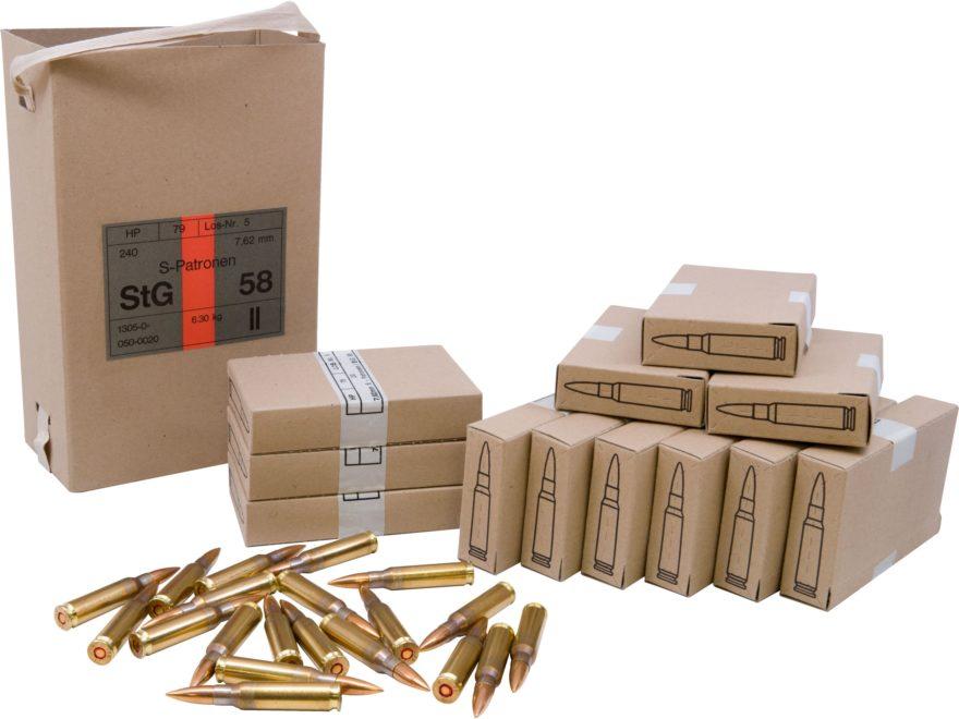 military surplus austrian ammo 7 62x51mm nato 146 mpn ah308a 240