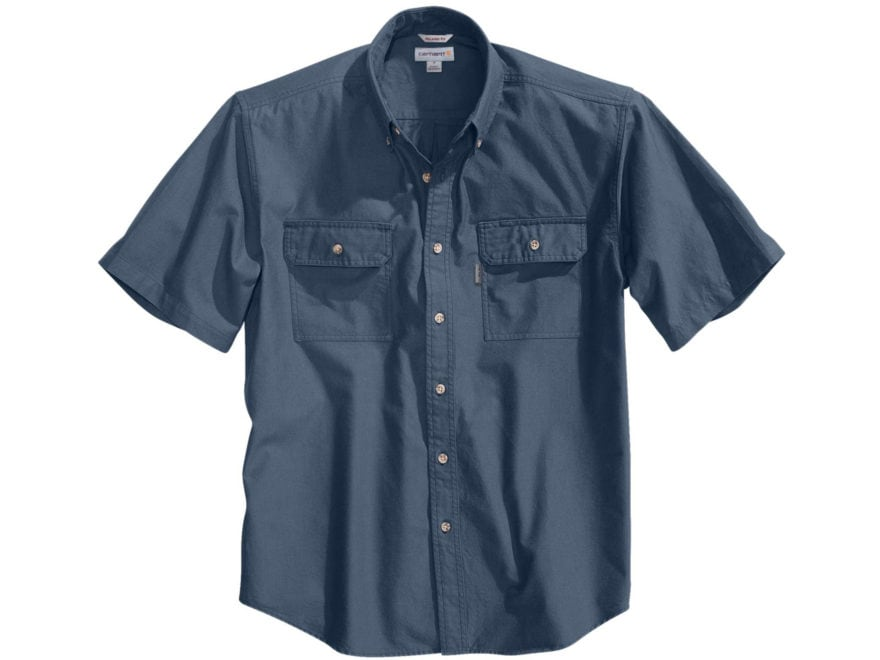 Carhartt Men's Fort Solid Button-Up Shirt Short Sleeve Cotton
