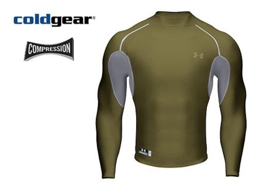 ad9814fd7 Under Armour Tactical ColdGear Metal Mock Shirt Long Sleeve Synthetic Blend  Olive Drab .