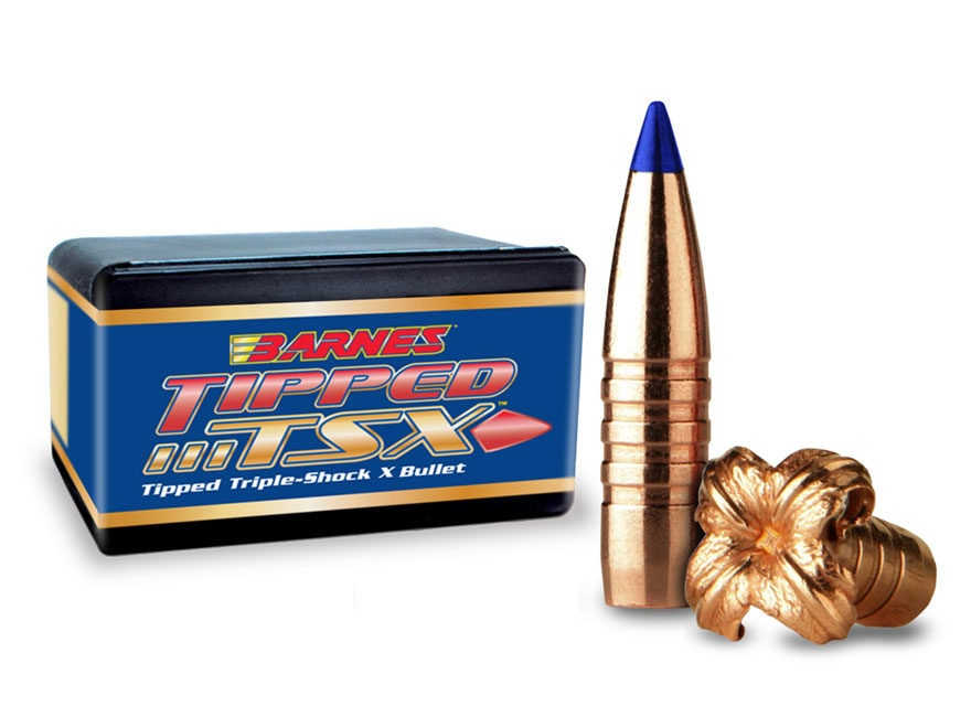 Barnes Tipped Triple-Shock X (TTSX) Bullets 30 Caliber (308 Diameter) 165 Grain Spitzer...