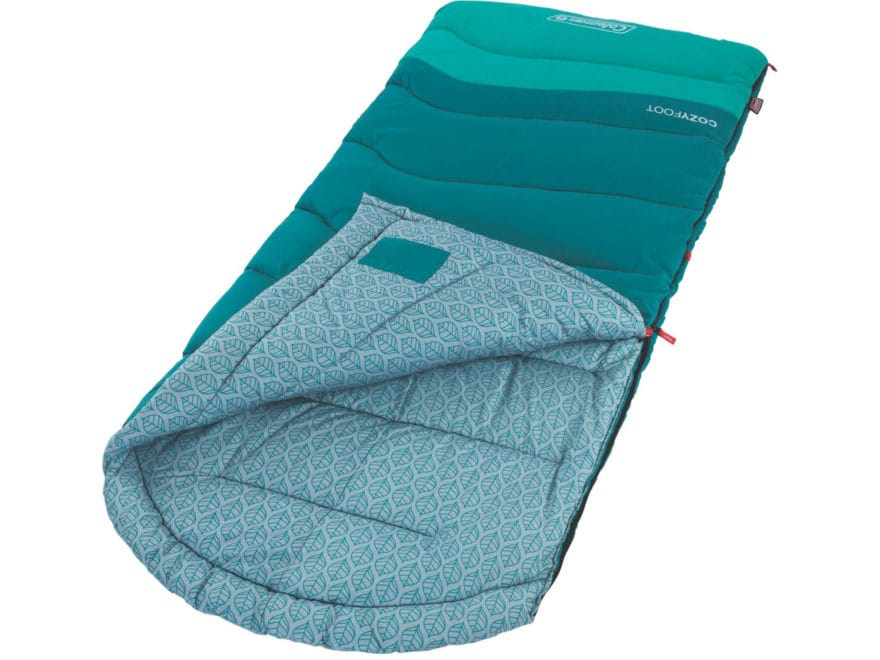 Coleman Cozyfoot 30 Degree Women's Sleeping Bag Polyester Green