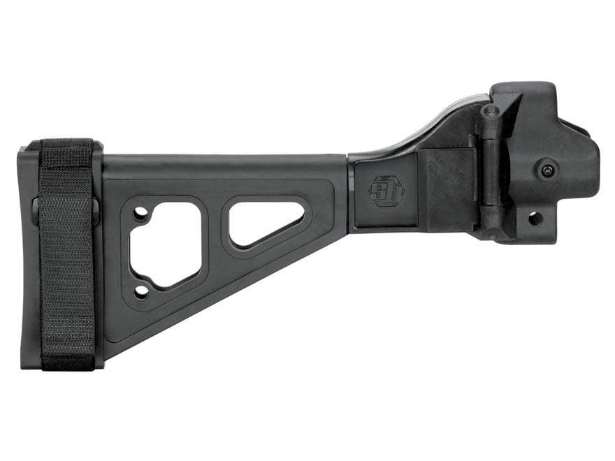 SB Tactical SBT5 Pistol Stabilizing Brace Side Folding with Adapter HK MP5, MP5K Black