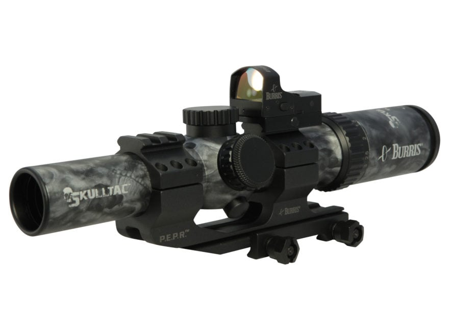 Burris SKULLTAC Rifle Scope 30mm Tube 1-4x 24mm Illuminated Ballistic CQ Reticle with F...
