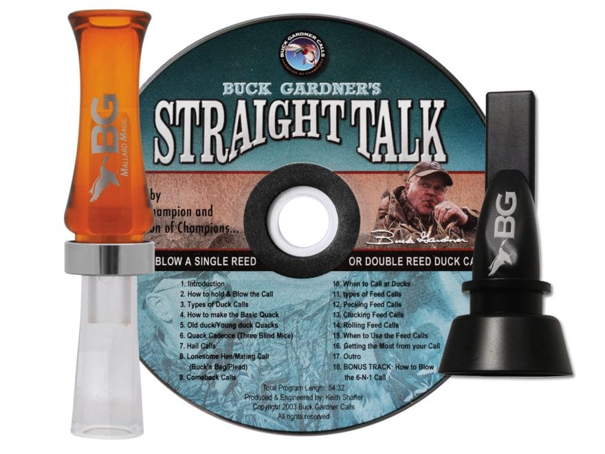 Buck Gardner Mallard Magic Duck Call & 6-in-1 Pintail Whistle Combo