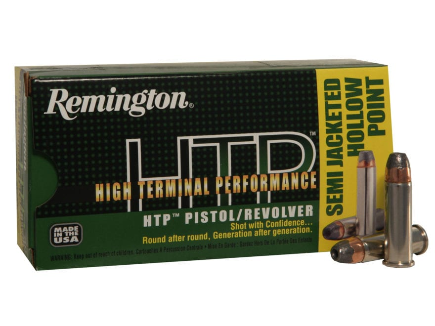 Remington High Terminal Performance (HTP) Ammunition 38 Special +P 125 Grain Semi-Jacke...