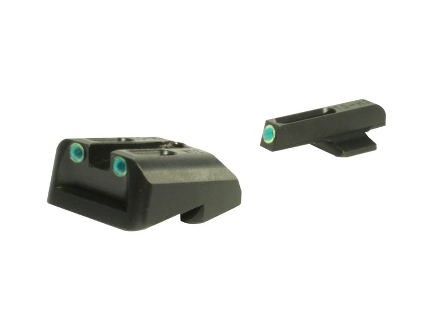 TRUGLO TFO Sight Set 1911 Commander 45 ACP Novak Cut Steel Tritium / Fiber Optic