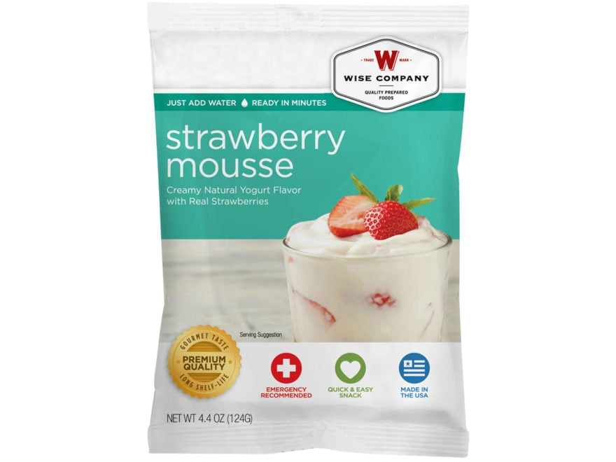 Wise Company Long Term 25 Year 4 Serving Strawberry Mousse Freeze Dried Food