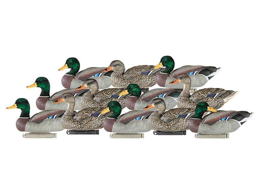 Dakota Decoy X-Treme Weighted Keel Mallard Duck Decoys Pack of 12