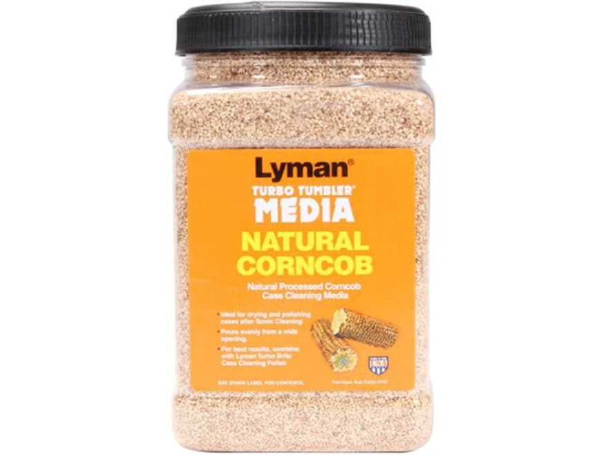"Lyman Turbo Brass Cleaning Media Corn Cob Medium ""Easy Pour Container"""