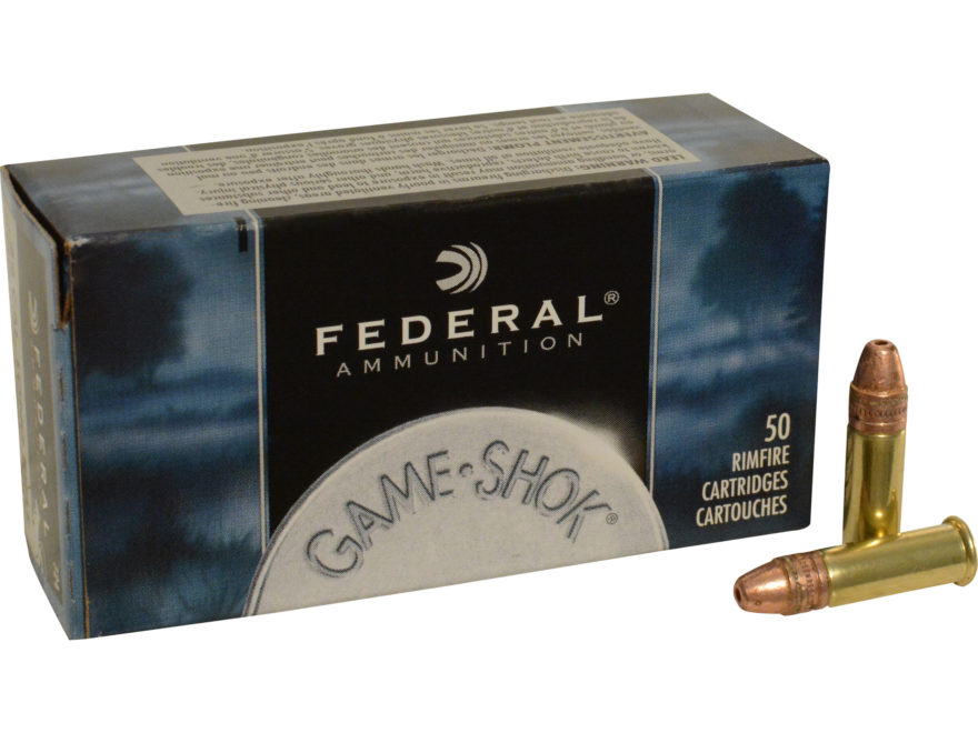 Federal Game-Shok Ammunition 22 Long Rifle Hyper Velocity 31 Grain Plated Lead Hollow P...