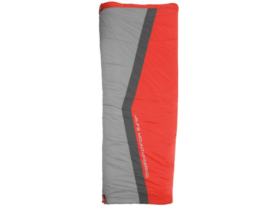 ALPS Mountaineering Cinch Sleeping Bag Polyester Flame Red/Coal