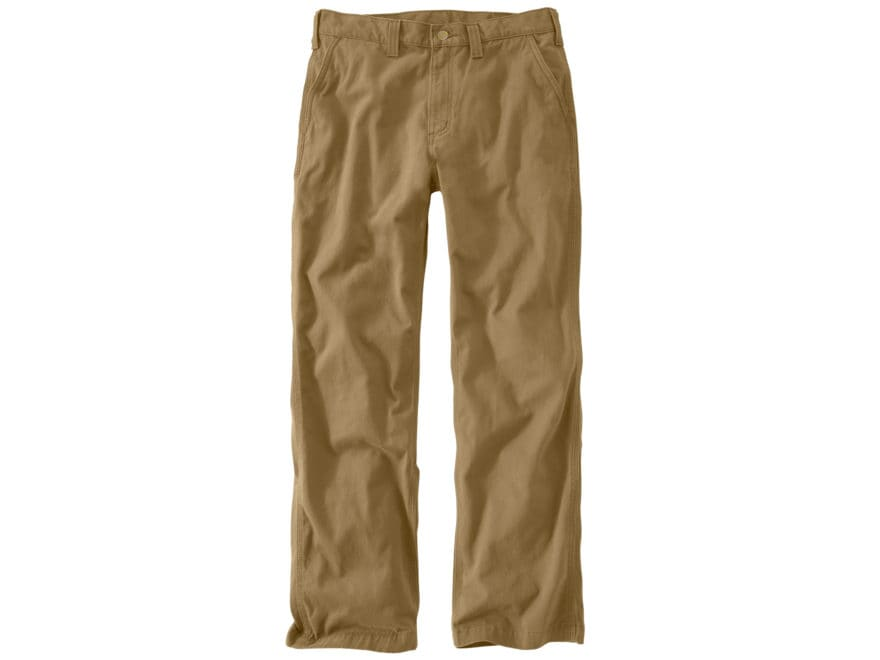Carhartt Men's Rugged Work Khaki Relaxed Fit Pants Cotton
