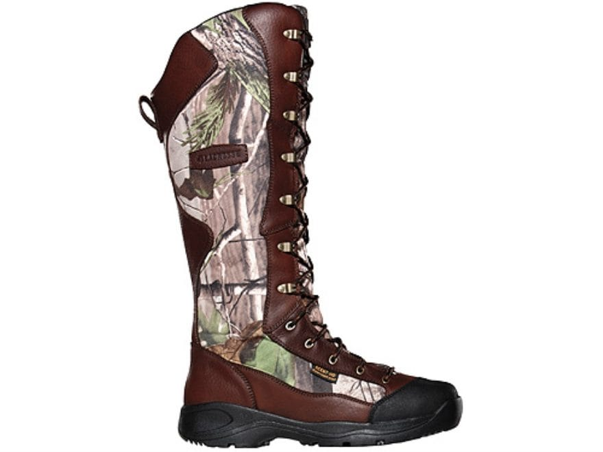 "LaCrosse Venom Scent HD 18"" Snake Boots Leather and Nylon Brown and Realtree APG HD Cam..."