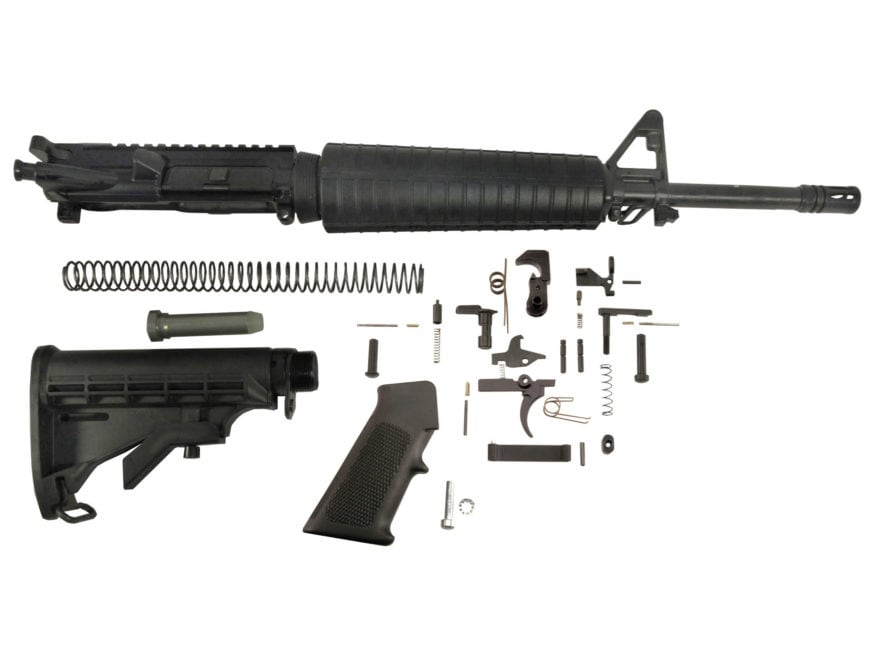 "Del-Ton AR-15 Mid-Length Carbine Kit  5.56x45mm NATO 1 in 9"" Twist 16"" Heavy Contour Ba..."