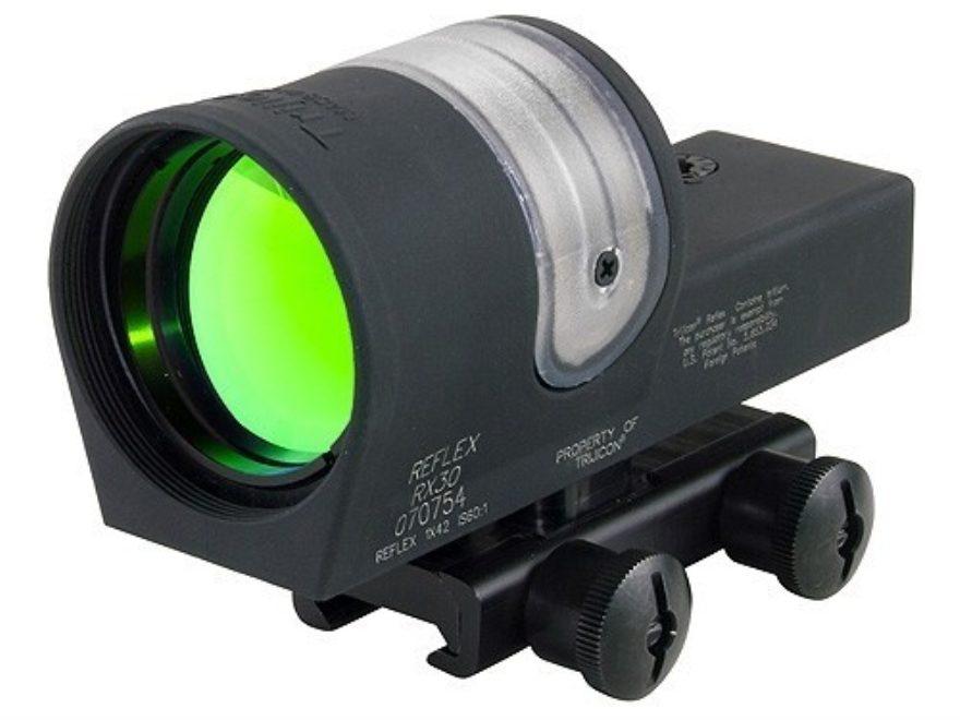 Trijicon RX30-14 Reflex Sight 1x 42mm 6.5 MOA Dual-Illuminated Amber Dot with Flat-Top ...